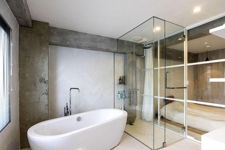 dinding kaca kamar mandi
