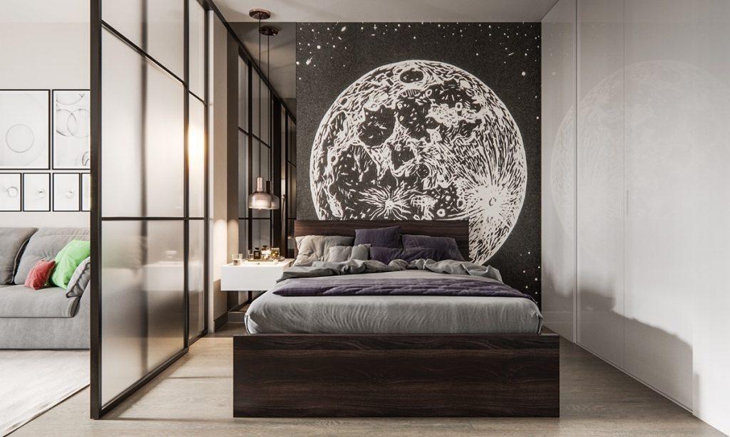 kaca pembatas kamar tidur