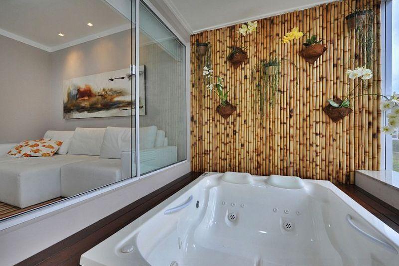 Sekat Ruangan bambu